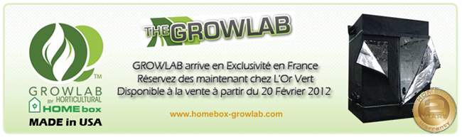 Tente Growlab by Homebox : hydroponie - HPS - hydroponie - HPS - hydroponie