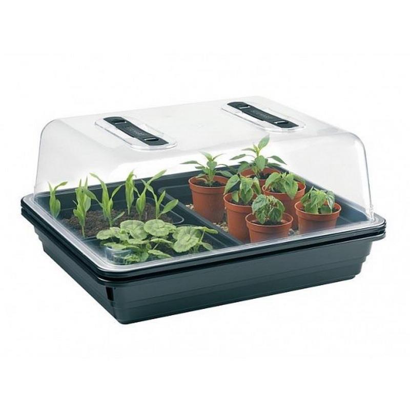 l 39 or vert mini serre mini serre chauffante plastique rigide 38 x 24 x h 19 cm. Black Bedroom Furniture Sets. Home Design Ideas