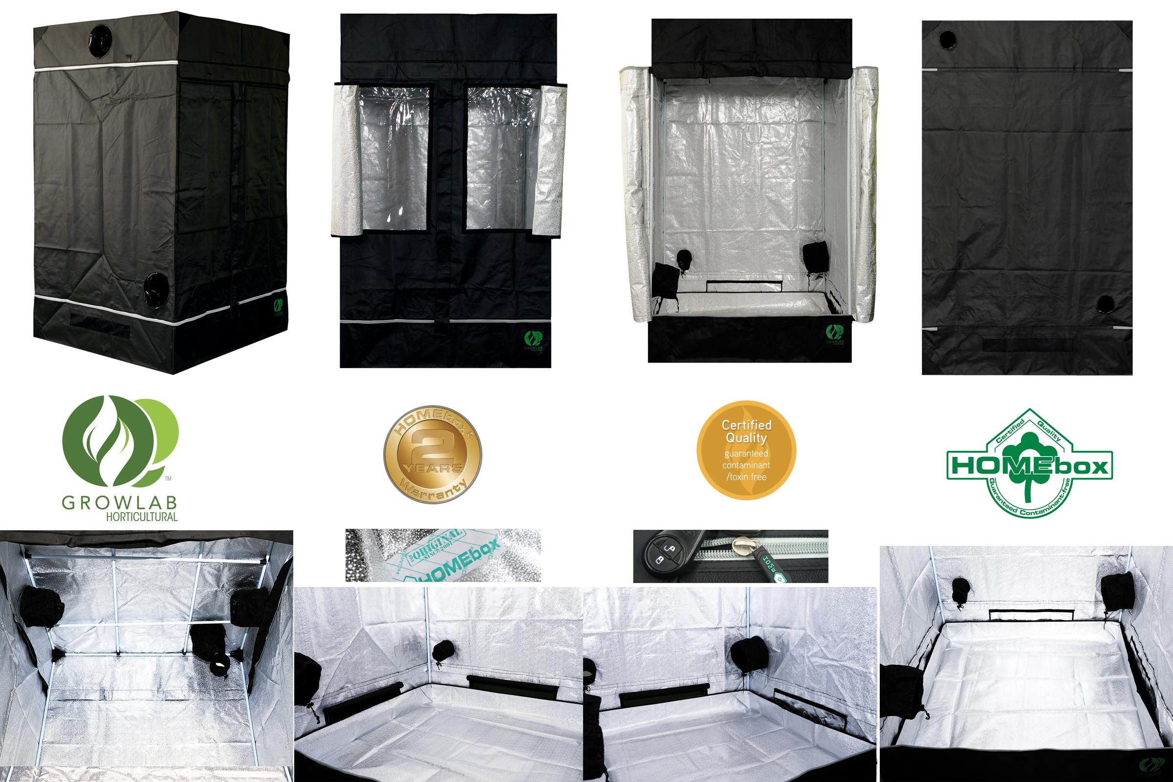 L 39 or vert tente growlab homebox chambre de culture - Chambre de culture 120x120x180 ...