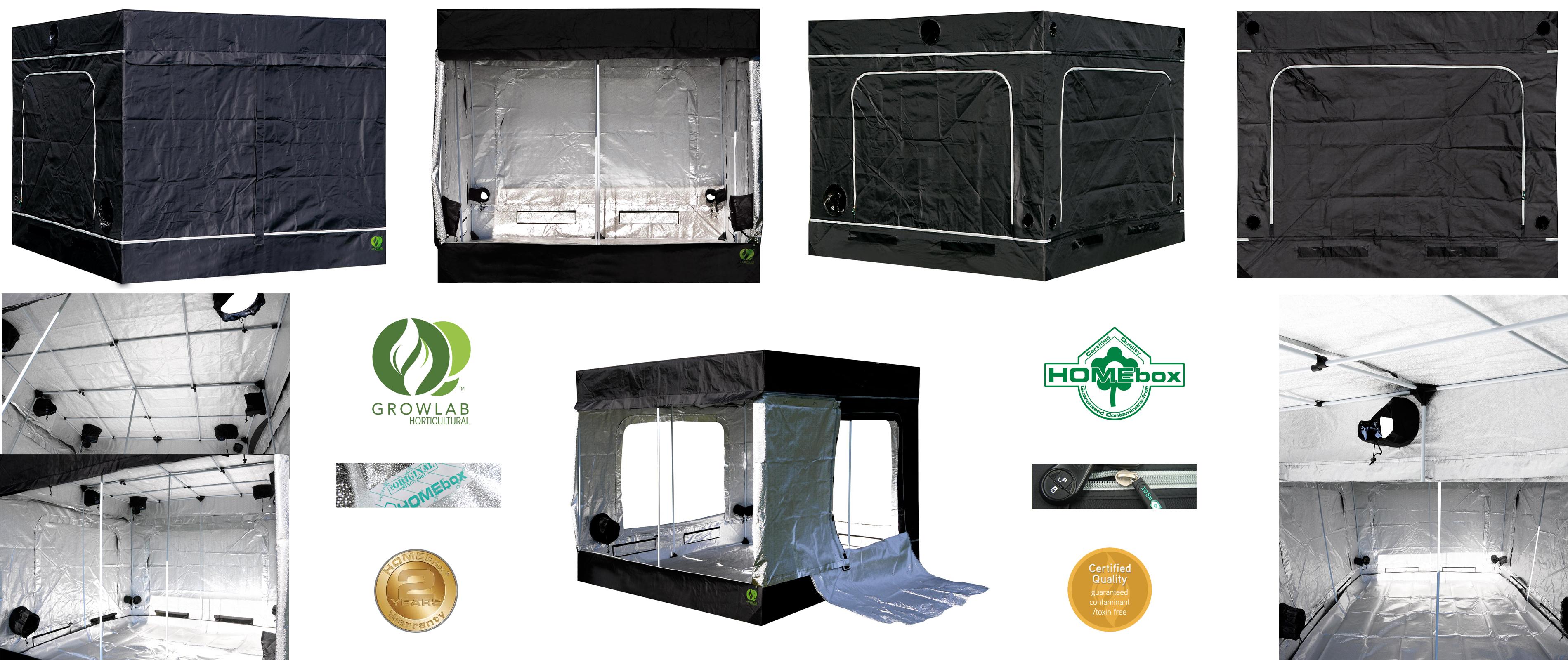 L Vert Tente Growlab Homebox Chambre de culture GrowLab