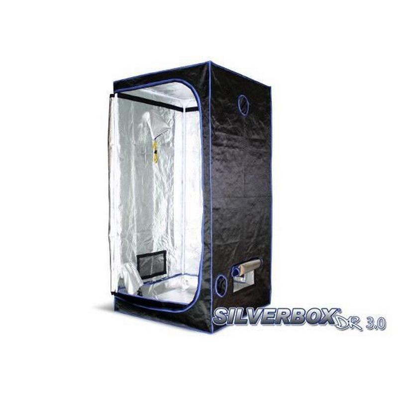 L 39 or vert tente silver box silver box twin chambre de culture silver box 60 60x60xh 160 cm - Chambre de culture hydroponique ...