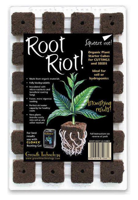 L 39 or vert hormone de bouturage root riot plateau de 24 blocs - Hormone de bouturage ...