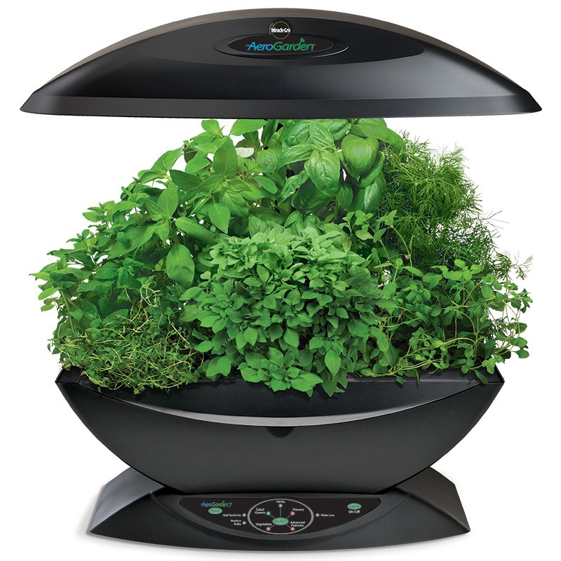 l 39 or vert syst me a roponique aerogarden white system kit graines herbes aromatiques. Black Bedroom Furniture Sets. Home Design Ideas